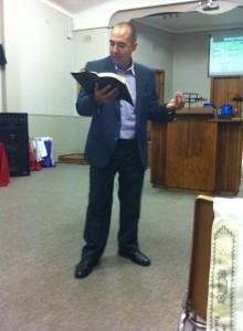 Rudy Preaching